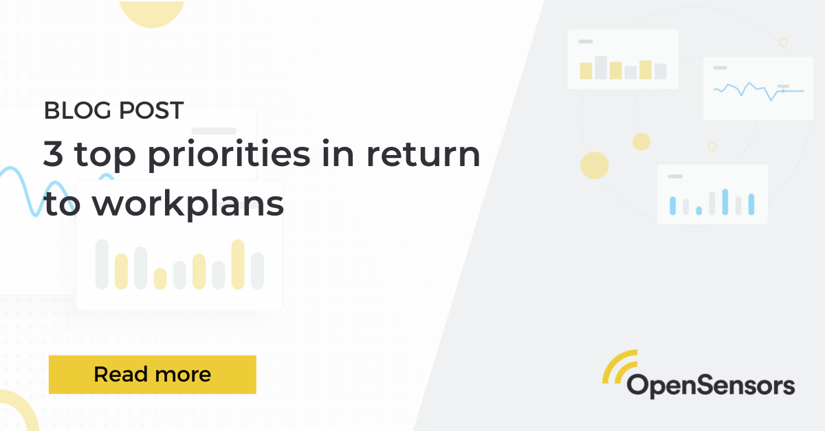OpenSensors - Top 3 priorities in return to work plans